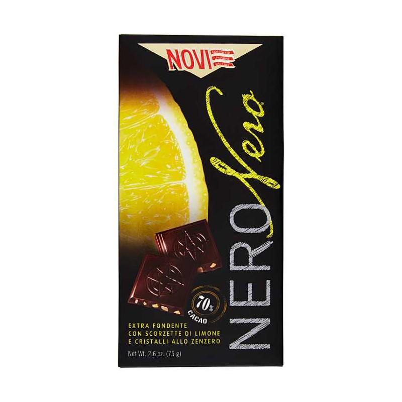 Cioccolato-Extra-Fondente-Con-Scorzette-Di-Limone-E-Cristalli-Allo-Zenzero-70